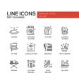 Laundry - line design icons set vector image