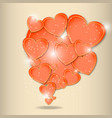 abstract paper hearts love valentine background vector image