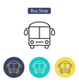 bus stop sign transport image vector image