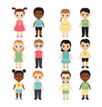 collection of happy children collection of happy vector image