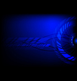 dark blue abstract technology cycle background vector image