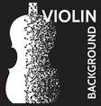 abstract background with violin and notes vector image