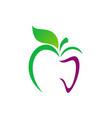 Apple abstract organic food logo