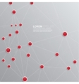 Background with plastic buttons with red dots vector image vector image