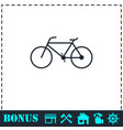 bicycle icon flat vector image vector image