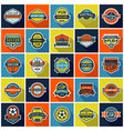 big set soccer pub and soccer cup badges vector image vector image