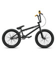 black bmx bicycle mockup - right side view vector image vector image