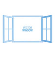 blue window template vector image