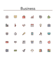 Business Colored Line Icons vector image vector image