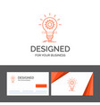 business logo template for bulb develop idea vector image