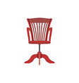 chair red furniture background design armchair vector image