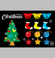 christmas party kit vector image vector image