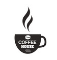 coffee house cup of coffee white background vector image