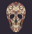 color of a sugar skull the holida vector image vector image