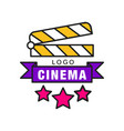 colorful cinema or movie logo template creative vector image