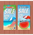 colorful summer sale banner vector image vector image