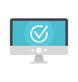 computer monitor online vote icon flat style vector image vector image