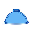 covered dish line icon vector image vector image