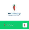 creative carrot logo design flat color logo place vector image