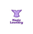 creative laundry logo vector image vector image