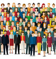 crowd abstract people vector image