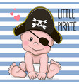 cute cartoon baby boy vector image vector image