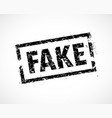 fake news rubber stamp vector image vector image