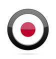 flag of japan shiny black round button vector image vector image