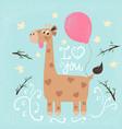 funny giraffe print for you idea vector image