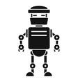 futuristic humanoid icon simple style vector image