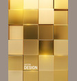 geometric background golden square shapes vector image vector image