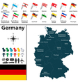 germany map with flags vector image