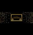 golden glitter christmas banner on black vector image vector image