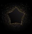 golden star background golden background vector image vector image