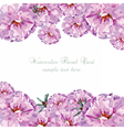 Greeting card with pink watercolor flowers vector image vector image