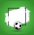 grunge football soccer background vector image vector image