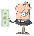 happy businessman dollar vector image