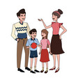 happy family icon image vector image vector image