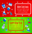 happy new year banner merry christmas giftcard vector image vector image