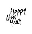 happy new year christmas greeting card paint vector image