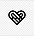 heart logo icon vector image vector image