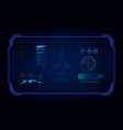 hud interface gui futuristic technology jet vector image vector image