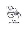 jug with bear line icon outline sign linear vector image vector image