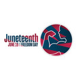 juneteenth freedom day june 19 holiday concept vector image vector image