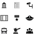 law icon set vector image vector image