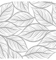 leaf drawing art pattern texture on a white vector image vector image