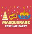 masquerade logo flat style vector image vector image