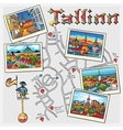 Medieval Old Town Tallinn Estonia vector image vector image