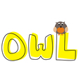 O is for owl - school hand drawn word