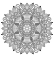 ornament ornamental round lace design vector image vector image